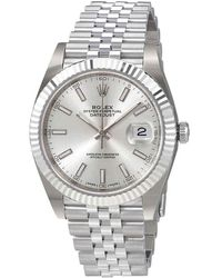 Rolex Oyster Perpetual Datejust Silver Dial Automatic Watch - Metallic