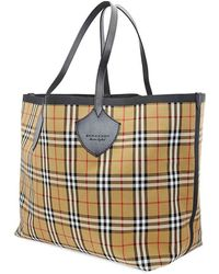 Burberry The Giant Check Tote - Yellow