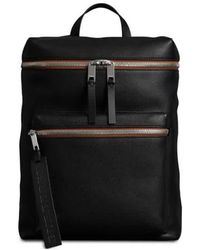 Burberry Mens Black Leather Backpack