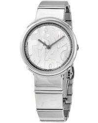 Ferragamo Salvatore Logomania Quartz White Dial Ladies Watch - Metallic