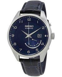 Seiko Kinetic Blue Dial Mens Watch