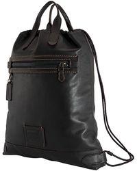 COACH Black Academy Drawstring Backpack