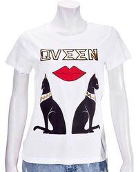 Yazbukey Ladies White Queen Cotton T-shirt