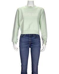 Calvin Klein Ladies Knitted Logo Jumper In Mint Green