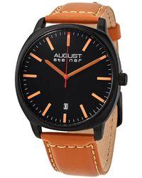 August Steiner Black Dial Mens Watch