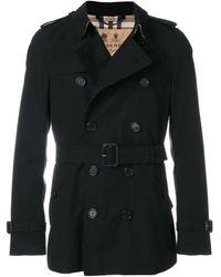 Burberry The Sandringham Short Trench Coat, Brand - Black