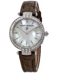 Harry Winston Premier White Mother Of Pearl Dial Ladies Diamond Watch - Metallic
