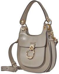 Chloé Hobo Tess Shoulder Bag- Mott Gray