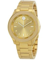 Movado Bold Gold Dial Yellow Gold Ion-plated Ladies Watch - Metallic