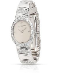 Vacheron Constantin Pre-owned Absolues Quartz Diamond Silver Dial Ladies Watch - Metallic