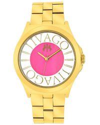 Jivago - Fun Pink Dial Gold-tone Ladies Watch - Lyst