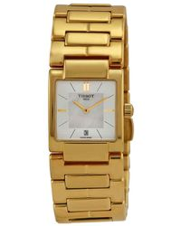 Tissot T-trend Mother Of Pearl Dial Stainless Steel Ladies Watch T0903103311100 - Metallic