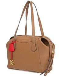 Tory Burch Perry Leather Satchel Bag - Brown