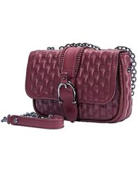 Longchamp Ladies Xs Crossbody Bag- Amazone Burgundy (matel) - Red