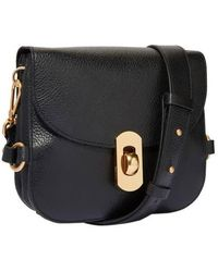 Coccinelle Black  Flap Over Crossbody Bag