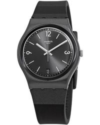 Swatch Blackeralda Quartz Black Dial Ladies Watch