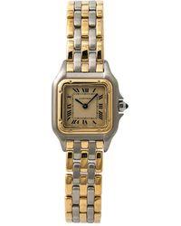 Cartier Pre-owned Panthere Quartz Ladies Watch - Metallic