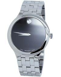 Movado Veturi Quartz Black Dial Mens Watch - Metallic