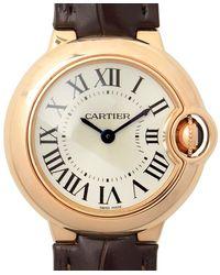 Cartier Ballon Bleu Silver Dial 18k Rose Gold Ladies Watch - Multicolor