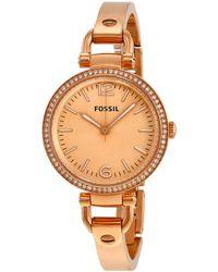 Fossil Georgia Glitz Rose Dial Rose Gold-tone Ladies Watch - Metallic