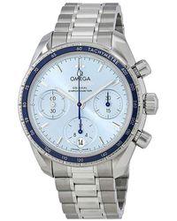 Omega Speedmaster Chronograph Automatic 38 Mm Watch - Blue