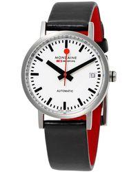 Mondaine Classic Automatic White Dial Ladies Watch - Metallic