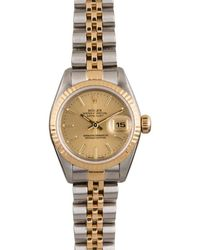 Rolex Pre-owned Datejust Automatic Chronometer Champagne Dial Ladies Watch  Csj - Metallic
