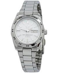 Seiko 5 Automatic White Dial Ladies Watch - Metallic