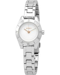 DKNY Quartz Silver Dial Stainless Steel Ladies Watch - Metallic