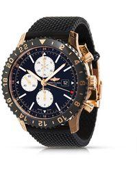 Breitling Pre-owned Chronoliner Chronograph Quartz Chronometer Black Dial Mens Watch