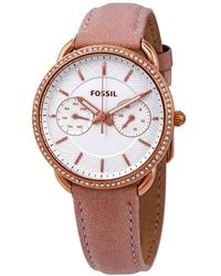Fossil - Tailor Quartz Crystal Silver Dial Ladies Watch - Lyst