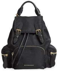 Burberry Ladies Small Rucksack - Black