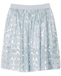 Stella McCartney Kids Shell Foil Tulle Skirt - Blue