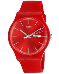 Swatch Originals Red Rebel Unisex Watch