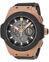 Hublot King Power Unico Black Dial Rose Gold Automatic Mens Watch 701oq0180rx - Multicolor