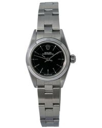 Rolex Pre-owned Oyster Perpetual Automatic Chronometer Black Dial Ladies Watch  Bkso