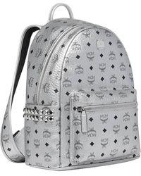 MCM Silver Backpack - Metallic