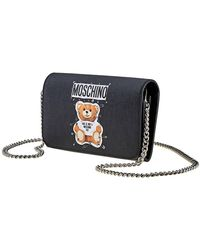 Moschino Ladies Playboy Bear Faux Leather Wallet - Black