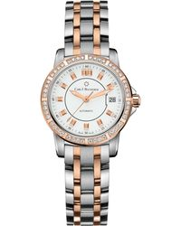 Carl F. Bucherer Stainless Steel And Rose-gold Diamond Watch - Metallic