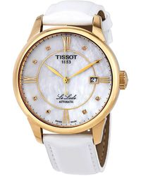Tissot Le Locle Automatic Diamond Mother Of Pearl Dial Ladies Watch - Metallic