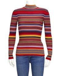 Etudes Studio Juliette Striped Sweater, Brand - Red