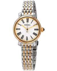 Seiko Silver Dial Two-tone Ladies Watch - Metallic