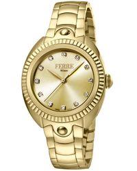 Ferrè Milano Quartz Champagne Dial Ladies Watch - Metallic