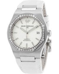 Girard-Perregaux Laureato Diamond Silver Dial Ladies Watch -bb6a - Metallic