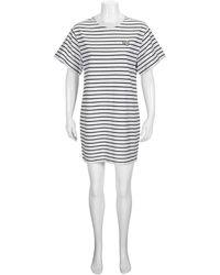 T By Alexander Wang T By Alexanderwang Ladies Striped Logo T-shirt Dress, Brand - Multicolor