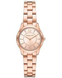 Michael Kors Quartz Runway Rose Dial Rose Gold-tone Ladies Watch - Pink