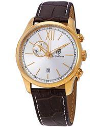 S. Coifman Chronograph White Dial Mens Watch - Metallic