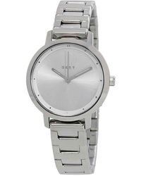 DKNY - The Modernist Silver Dial Stainless Steel Ladies Watch - Lyst