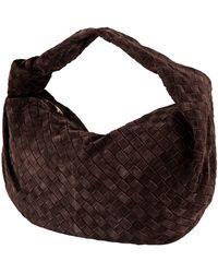Bottega Veneta Ladies Jodie Hobo Woven Leather Bag - Brown