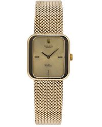 Rolex Pre-owned Cellini Hand Wind Champagne Dial Ladies Watch - Metallic